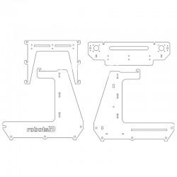 Комплект деталей из акрила для рамы 3D принтера RepRap Prusa Air 2